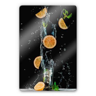 Glasbild Belenko - Splashing Lemonade