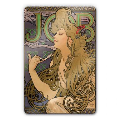Glasbild Mucha - Werbeplakat für JOB