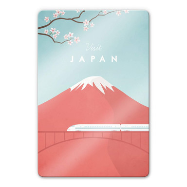 Glasbild Rivers - Japan