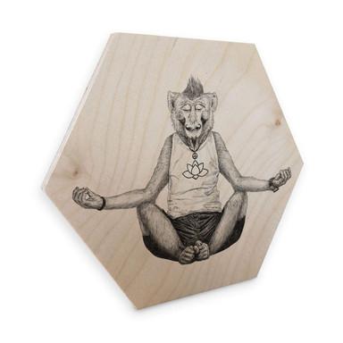 Hexagon - Holz Birke-Furnier Kools - Monkey Yoga
