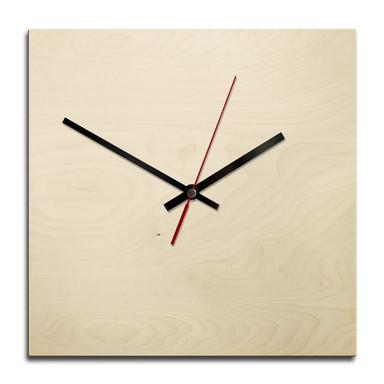 Holz-Wanduhr - Blanko - quadratisch