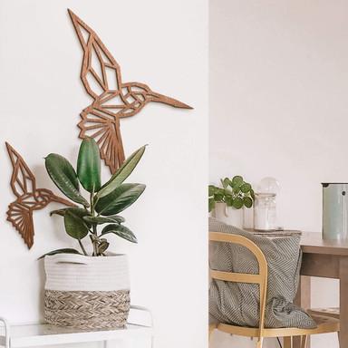 Holzkunst Mahagoni - Origami Kolibri