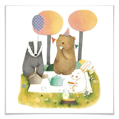 Poster Loske - Picknick zu dritt
