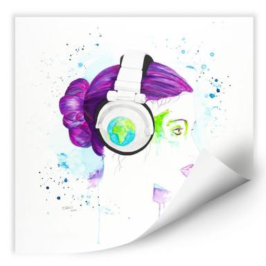 Wallprint Buttafly - Listen to the World