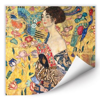 Wallprint Klimt - Dame mit Fächer