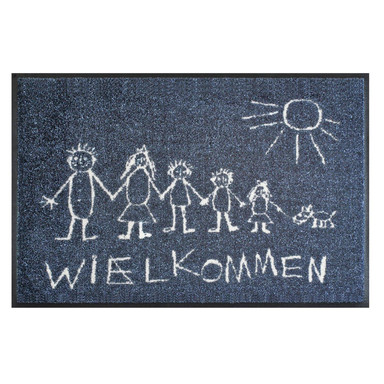 Wash&Dry Fussmatte Willkommen 50x75cm