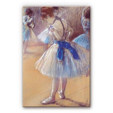Acrylglasbild Degas - Tänzerin beim Binden der Schleife