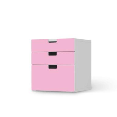 Folie IKEA Stuva / Malad Kommode - 3 Schubladen - Pink Light
