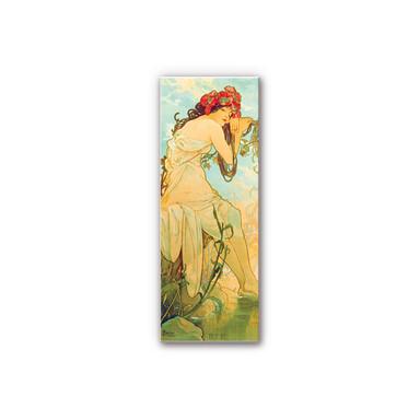 Hartschaumbild Mucha - Jahreszeiten: Der Sommer 1900