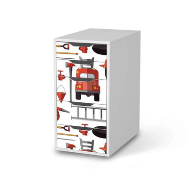 Klebefolie IKEA Alex 5 Schubladen - Firefighter