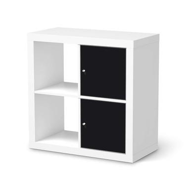 Klebefolie IKEA Expedit Regal 2 Türen (hoch) - Schwarz