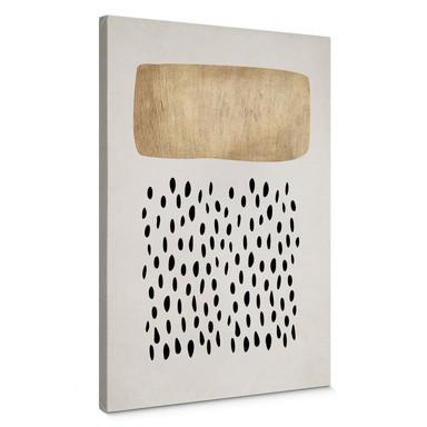 Leinwandbild Kubistika - Goldene Wolke