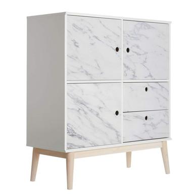 Möbelfolie, Dekofolie - abwischbar - Marmor 04