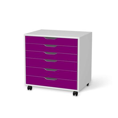 Möbelfolie IKEA Alex Rollcontainer 6 Schubladen - Flieder Dark