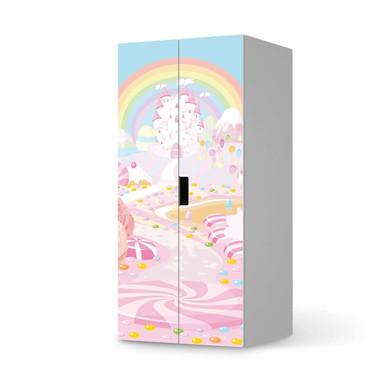 Möbelfolie IKEA Stuva / Malad Schrank - 2 grosse Türen - Candyland