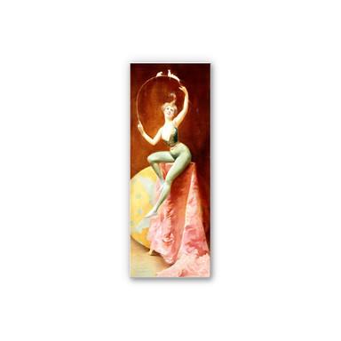 Wandbild Penot - Tänzerin mit drei weissen Mäusen