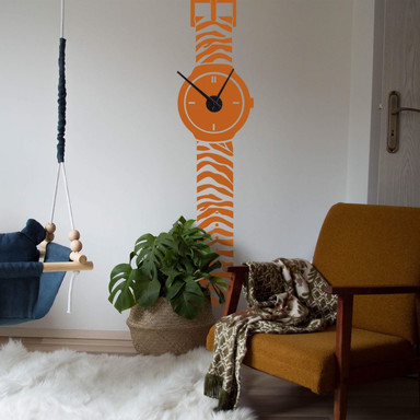 Wandtattoo Armbanduhr Tiger