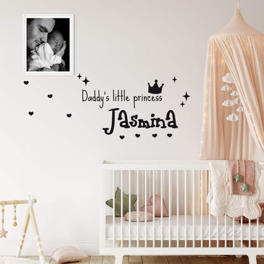Wandtattoo & Name Daddy's little Princess