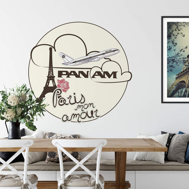 Wandtattoo PAN AM - Paris mon amour