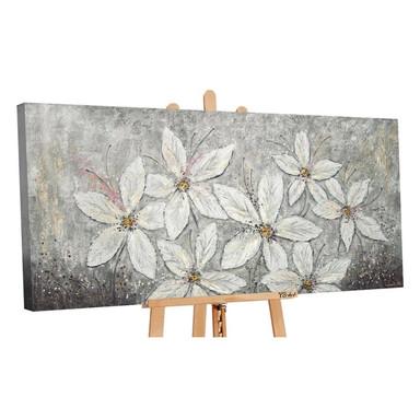 Acryl Gemälde handgemalt Blumenparadies 120x60cm