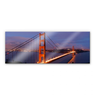 Acrylglasbild Golden Gate Bridge Panorama