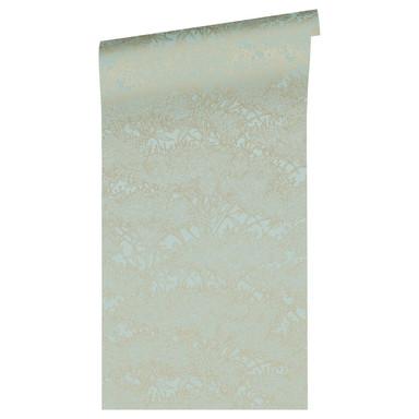 Architects Paper Vliestapete Absolutely Chic Tapete mit Blumen floral metallic, blau, grün