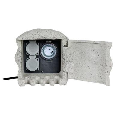 Energieverteiler Piedra 2-fach mit Zeitschaltuhr