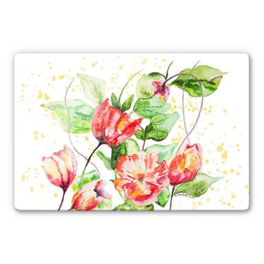 Glasbild Toetzke - Gartenblumen