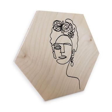 Hexagon - Holz Birke-Furnier - Hariri - Frida Kahlo