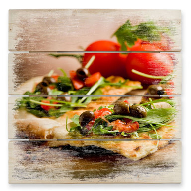 Holzbild Pizza all'Italiana