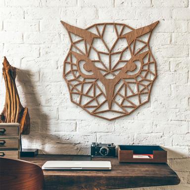 Holzkunst Mahagoni - Origami Eule