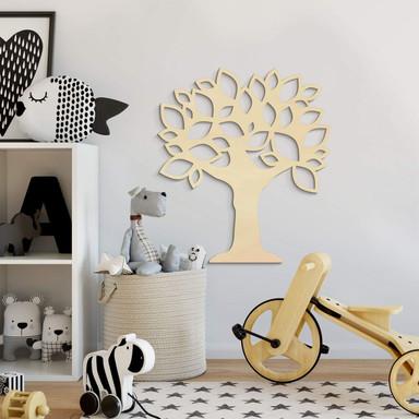 Holzkunst Pappel - Baum mit Blättern
