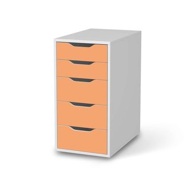 Klebefolie IKEA Alex 5 Schubladen - Orange Light