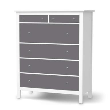 Klebefolie IKEA Hemnes Kommode 6 Schubladen - Grau Light- Bild 1