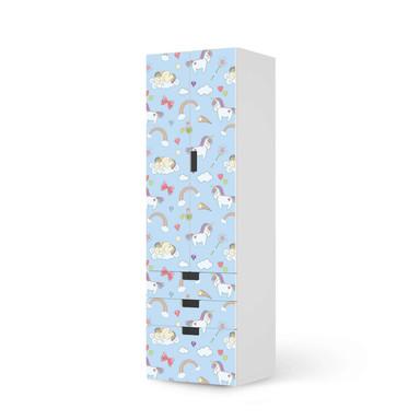 Klebefolie IKEA Stuva / Malad - 3 Schubladen und 2 grosse Türen - Rainbow Unicorn- Bild 1