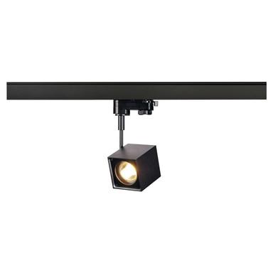 Leuchtenspot Altra Dice für 3-Phasen-Stromschiene in schwarz, inkl. Adapter