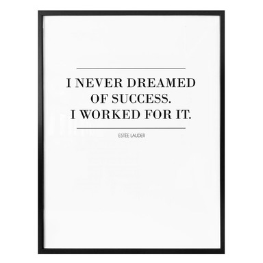 Poster I never dreamed of succes 02