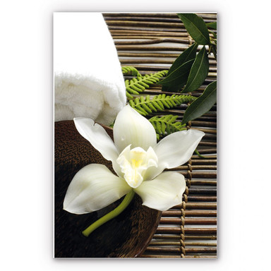 Wandbild Wellness Orchidee