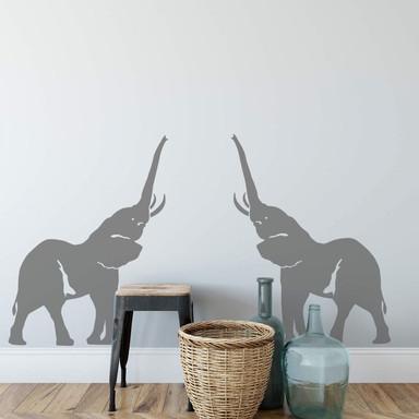 Wandtattoo Elefanten-Paar
