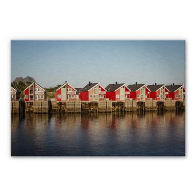 Alu Dibond Bild Ferienhäuser am Meer