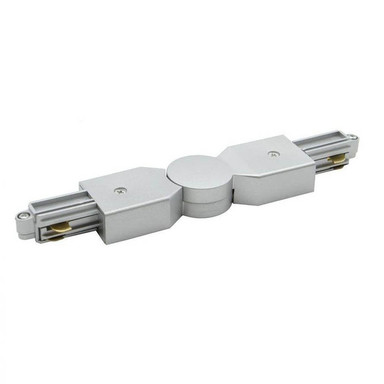 famlights | 1-Phasen Schienensystem verstellbarer Verbinder in Silber