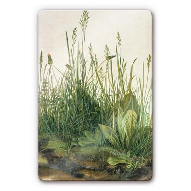 Glasbild Dürer - Das grosse Rasenstück
