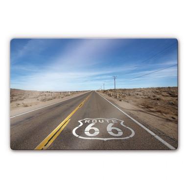 Glasbild Route 66