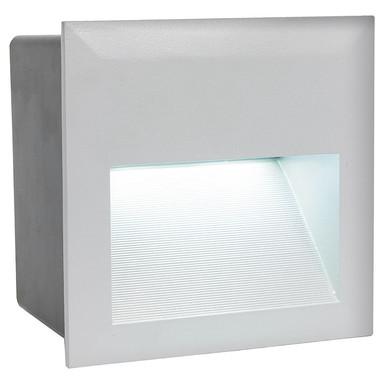 LED Aussenwandeinbauleuchte IP65 inkl. LED 140x140mm eckig Silber
