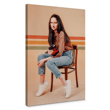 Leinwandbild Loose - Retro Mona