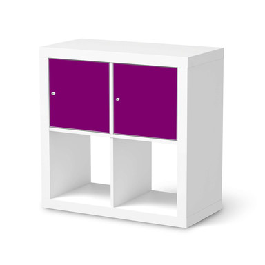 Möbel Klebefolie IKEA Expedit Regal 2 Türen (quer) - Flieder Dark- Bild 1