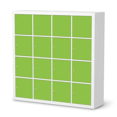 Möbelfolie IKEA Kallax Regal 16 Türen - Hellgrün Dark