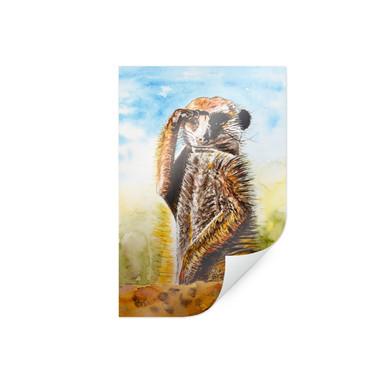 Poster Toetzke - Aufmerksames Erdmännchen