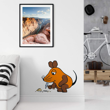 Wandsticker Die Maus forscht