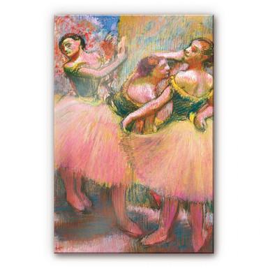 Acrylglasbild Degas - Drei Tänzerinnen mit grünen Korsagen